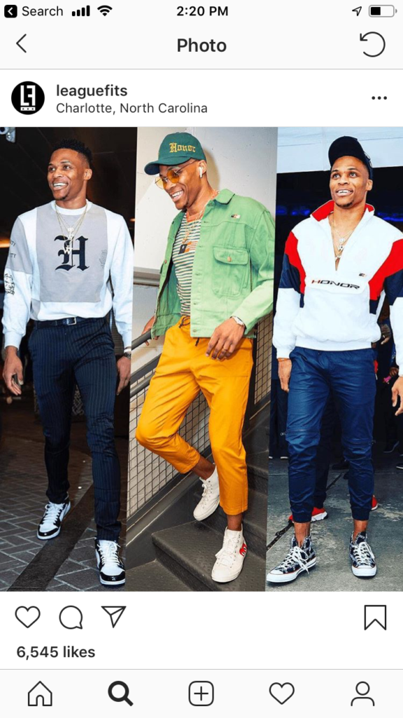 95e4a165b12488 Russell Westbrook – The Fashion King Credit  LeagueFits